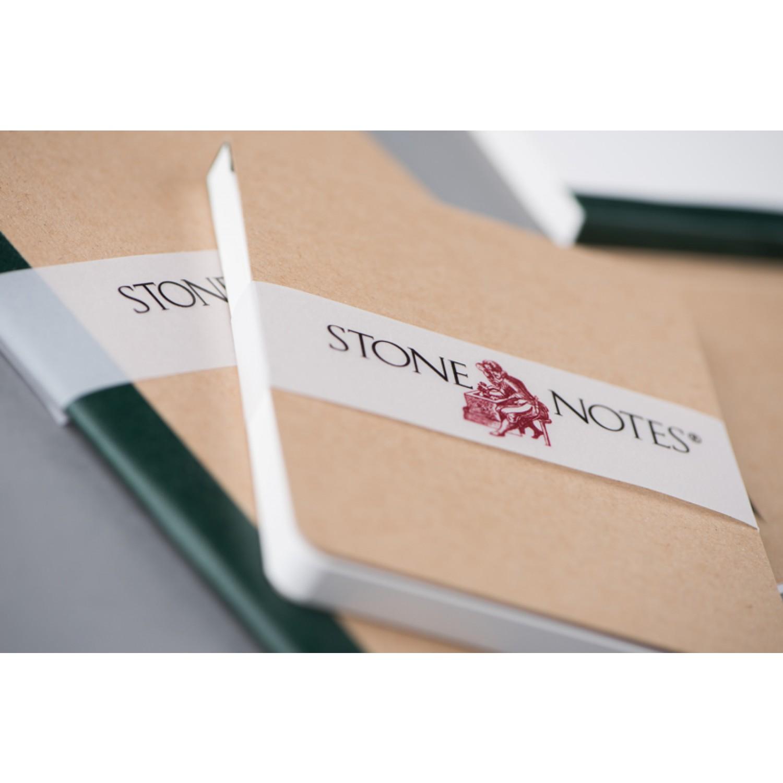 StoneNotes® – Notizblock hoch 3er Set | grün gedruckt