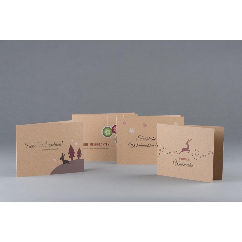 Weihnachtskarten und Geschenkanhänger | grün gedruckt