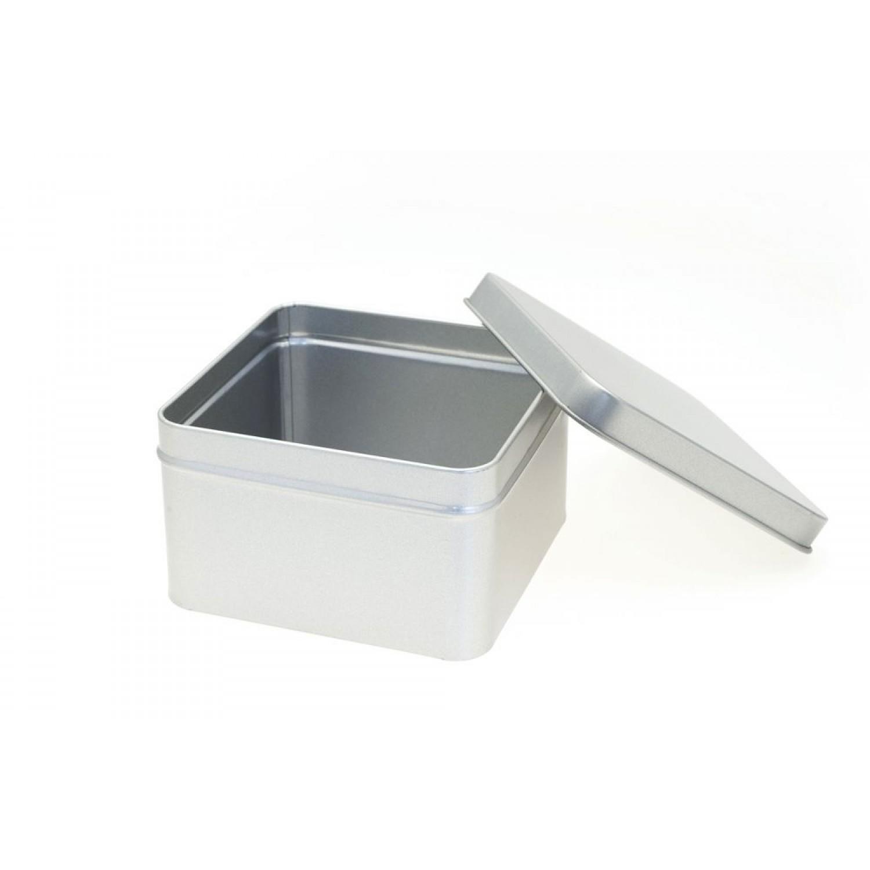 Öko Zubehördose - quadratische Blechdose mit Deckel | Tindobo