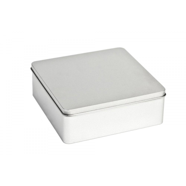 Große Aufbewahrungsdose aus Weißblech mit Deckel | Tindobo