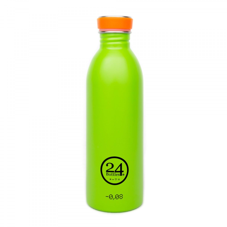 Edelstahl Trinkflasche 0,5L lime green | 24Bottles