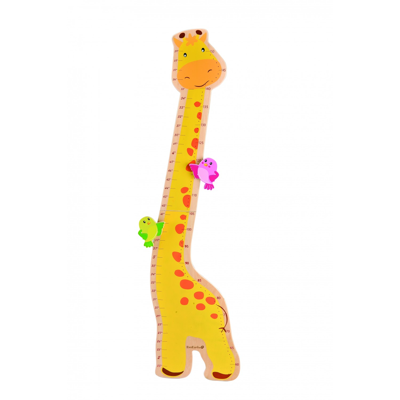 Messlatte Giraffe aus FSC® Holz für Kinder   EverEarth