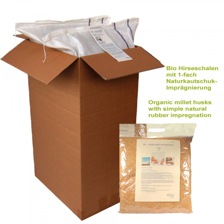 Bio Hirseschalen mit Fairtrade Kautschuk Nachfüllpack | speltex