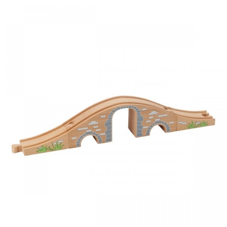 EverEarth Eisenbahnbrücke aus FSC Holz – Öko Holzspielzeug