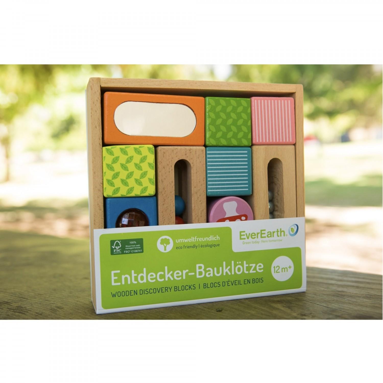 EverEarth Entdecker Bauklötze FSC Holz - viele Farben & Formen