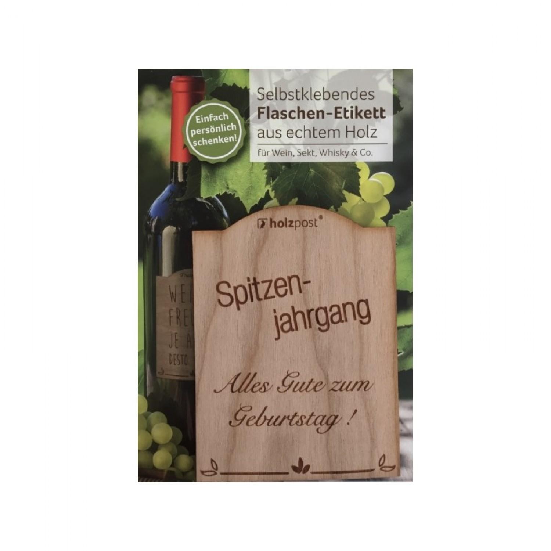 Flaschen-Etikett SPITZENJAHRGANG