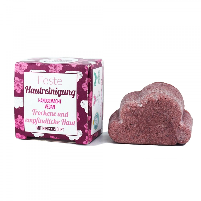 Lamazuna feste Seife Hibiskus für Gesichtsreinigung