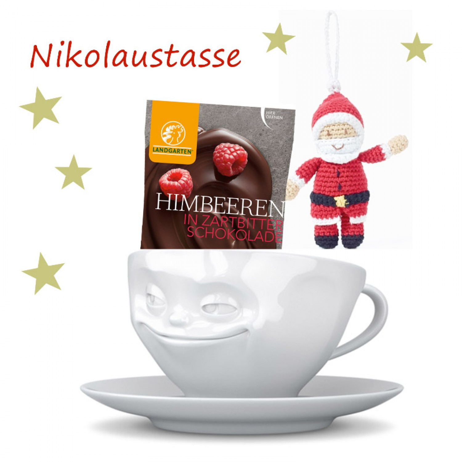 Fiftyeight Products Nikolaus-Set Porzellan & Knabbereien