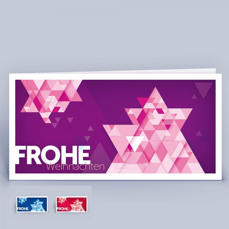 Öko Weihnachtskarte Stern, viele Farben, DIN lang | eco-cards-shop