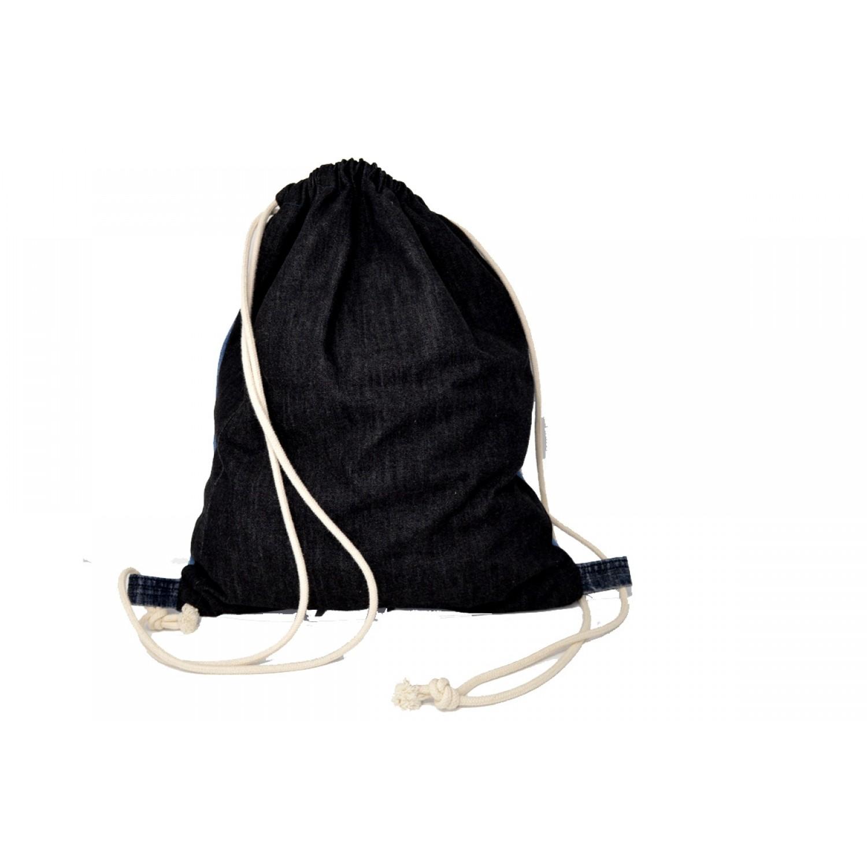 717d75c5e17d1 Gymbag Auf Zack - Turnbeutel aus Jeans UNIKAT