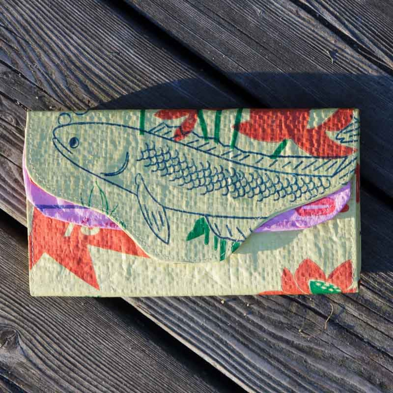 Öko Geldbörse fair.geben – gelber Fisch | milchmeer