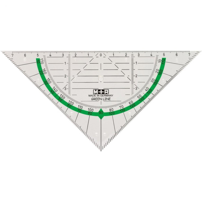 Geodreieck aus Biokunststoff 16 cm | M+R Green Line