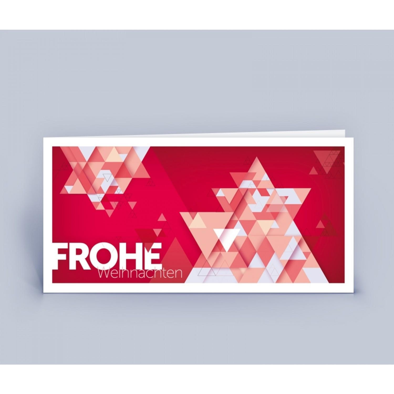 Öko Weihnachtskarte Ster rot, DIN lang | eco-cards-shop