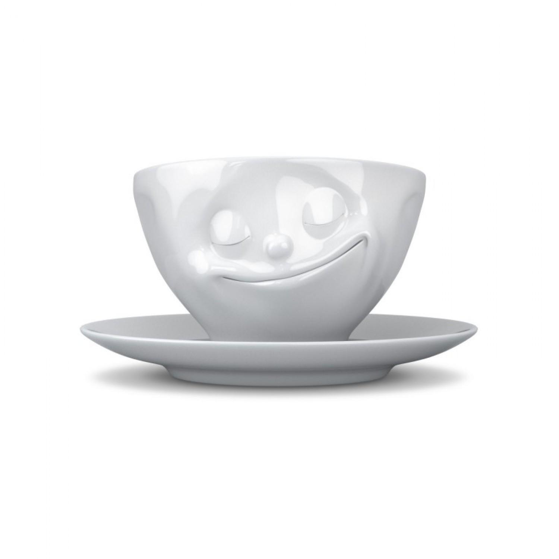 Glückliche Tasse aus Porzellan