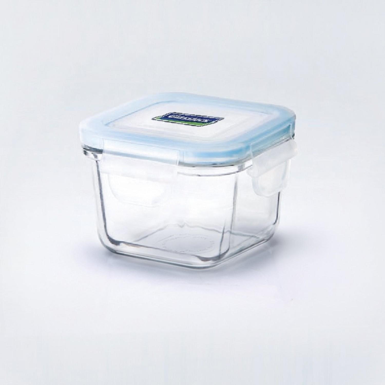 Quadratische Glasslock Baby Frischhaltedose für Mikrowelle