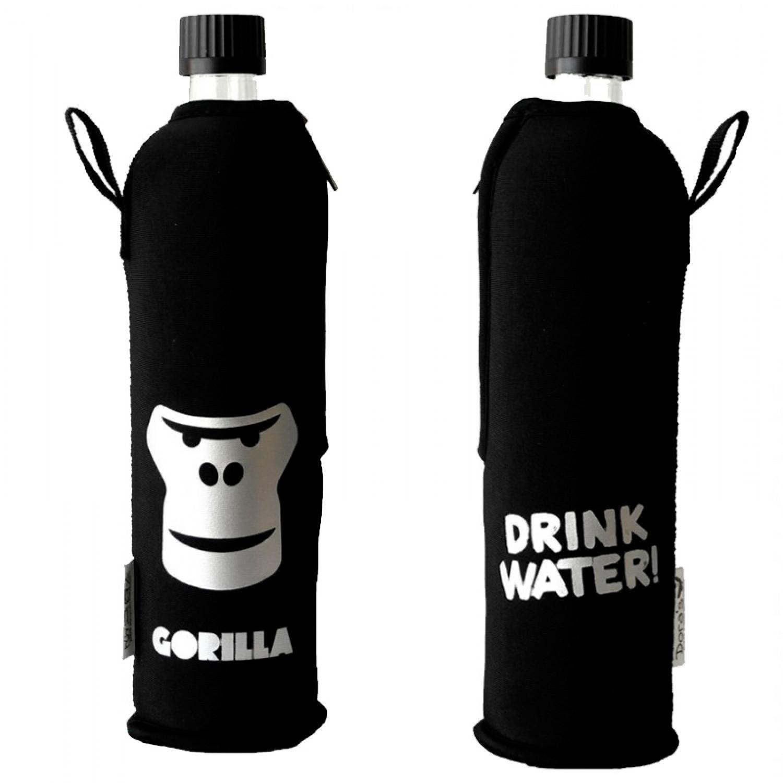 Dora's Glasflasche mit Gorilla Neoprenanzug Sonderedition