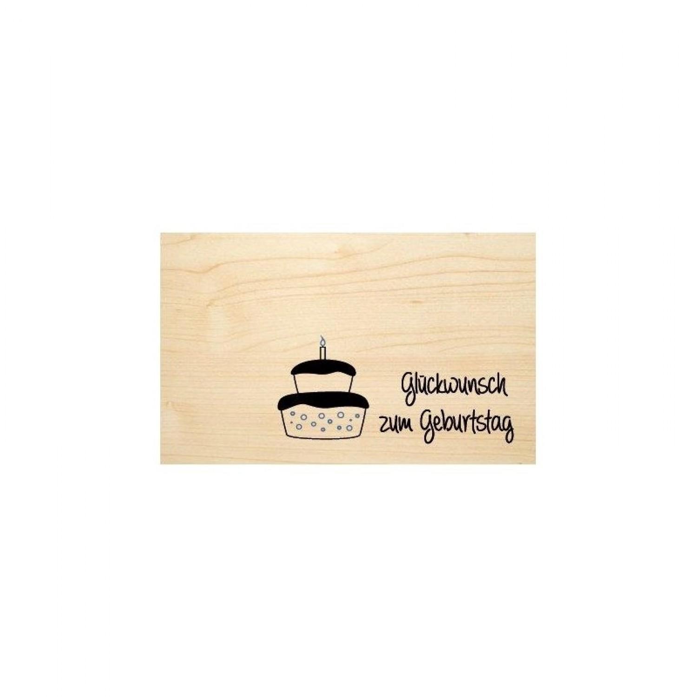 Glückwunsch zum Geburtstag - Öko Holzkarte | Biodora