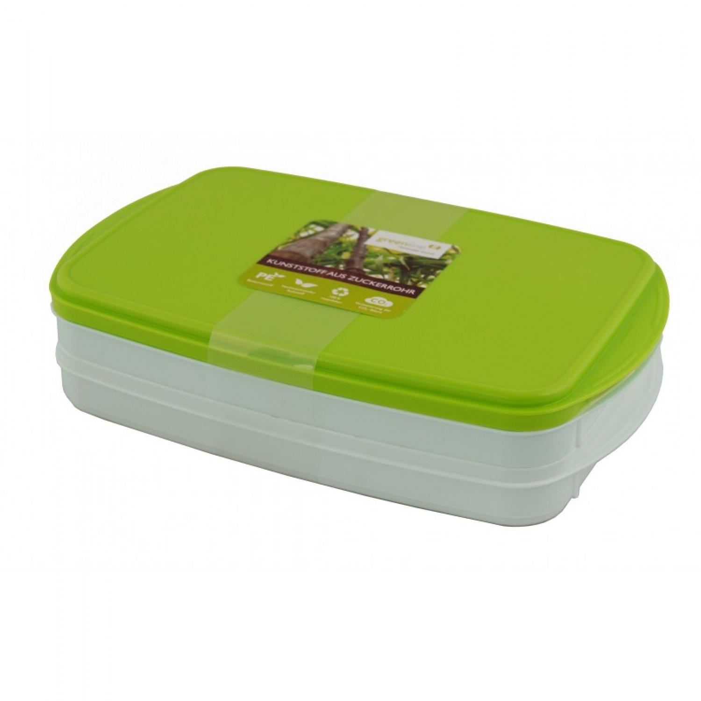 Greenline Frischhaltedose - Stapelbox 2x0,9 Liter | Gies