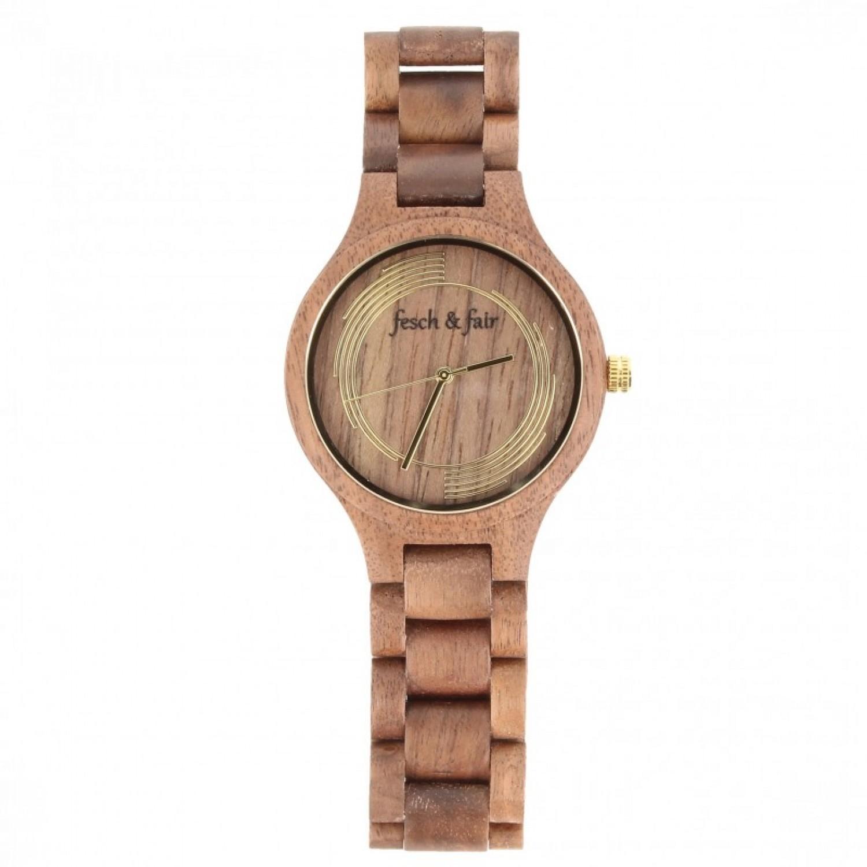 Unisex Armbanduhr aus Walnussholz