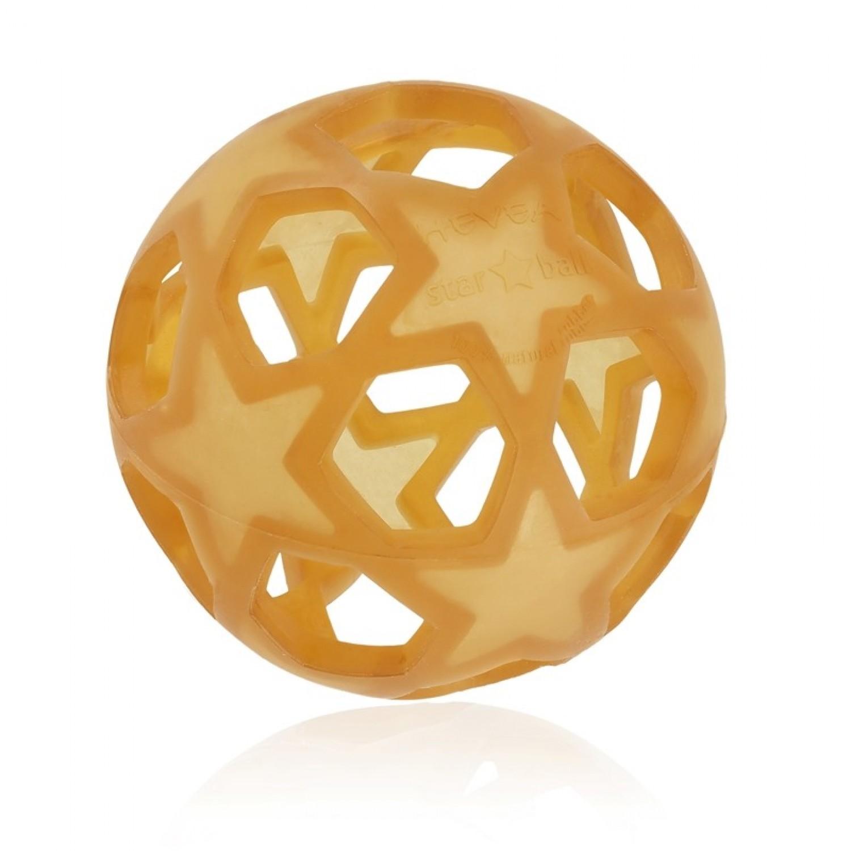 Hevea Star Ball aus Naturkautschuk - Öko Spielzeug