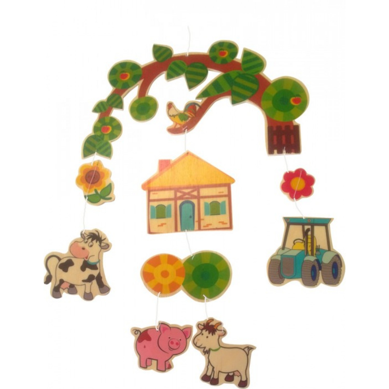 Bauernhof – Mobile aus regionalem Holz | Hess Spielzeug