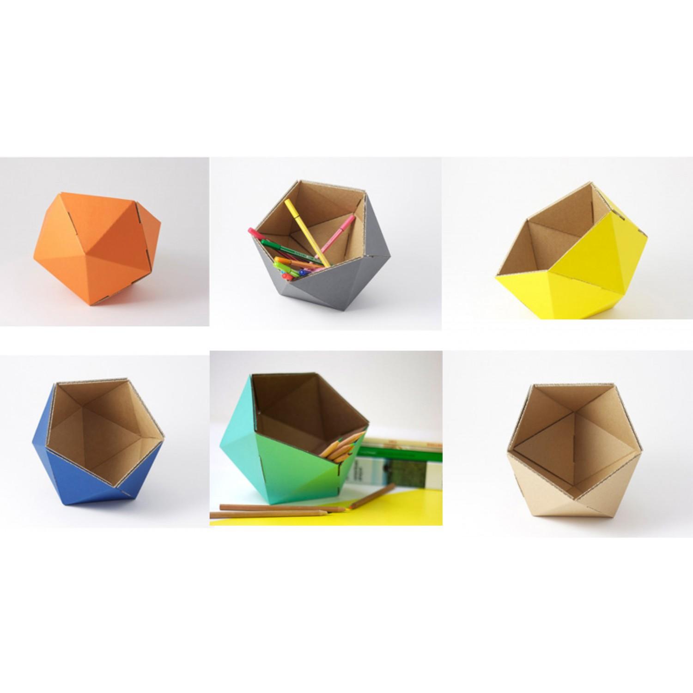 DIY Stiftebox aus Recycling-Pappe | kolor