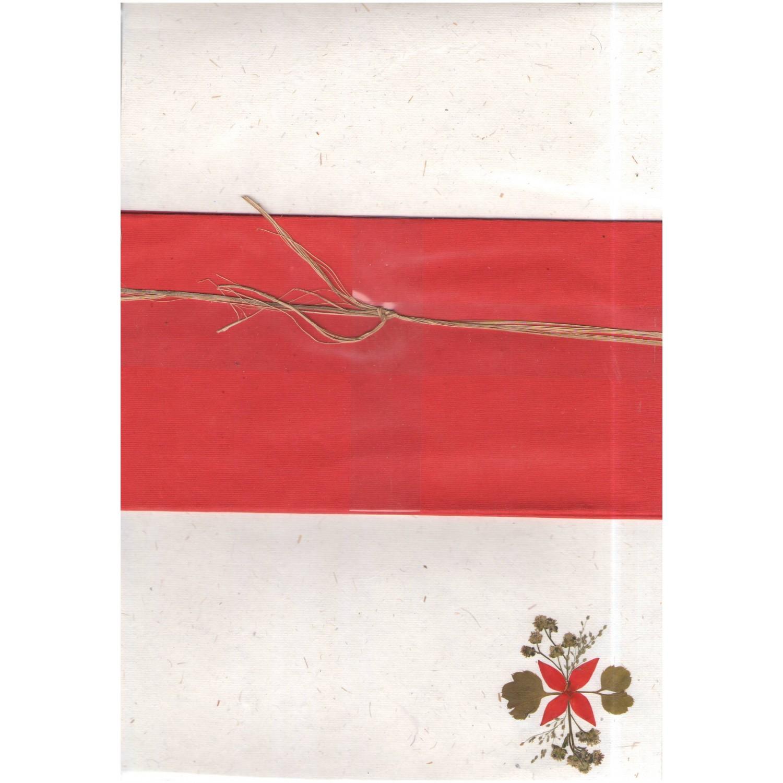 Öko Briefpapier Schreibpapier-Set rot | Sundara