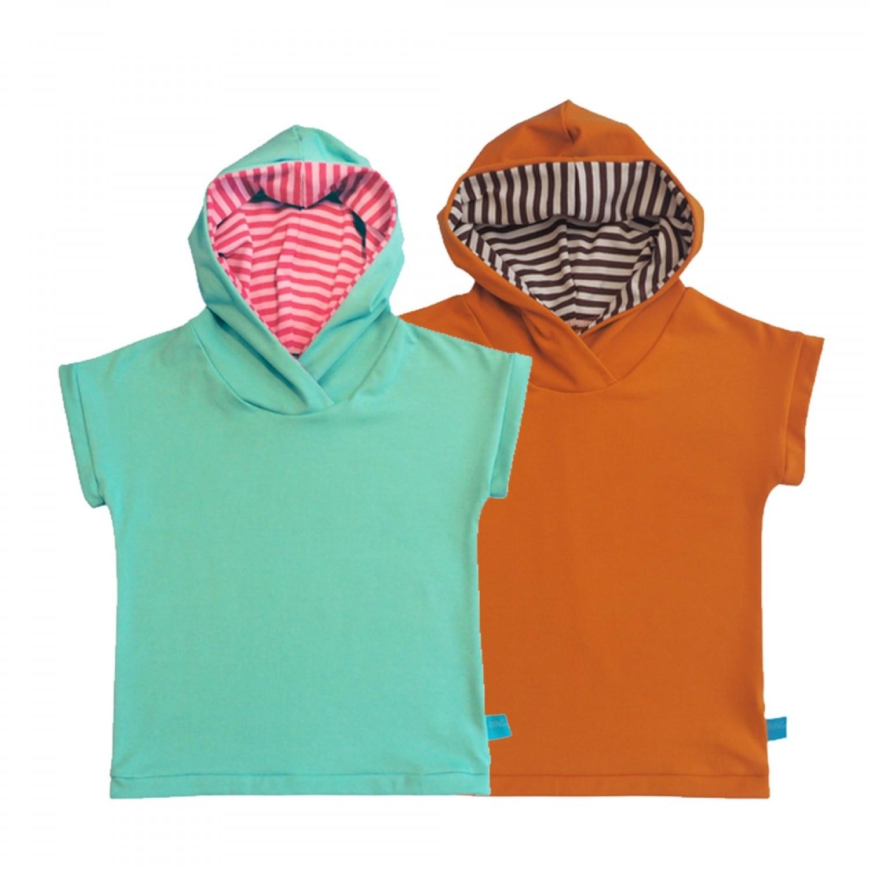 Kapu-Shirt Ringelkapuze für Kinder, Bio-Baumwolle | bingabonga