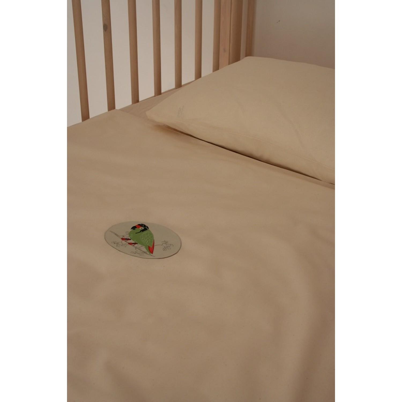 Bio Kinder Bettwäsche aus Bio-Baumwolle mit Papagei   iaio