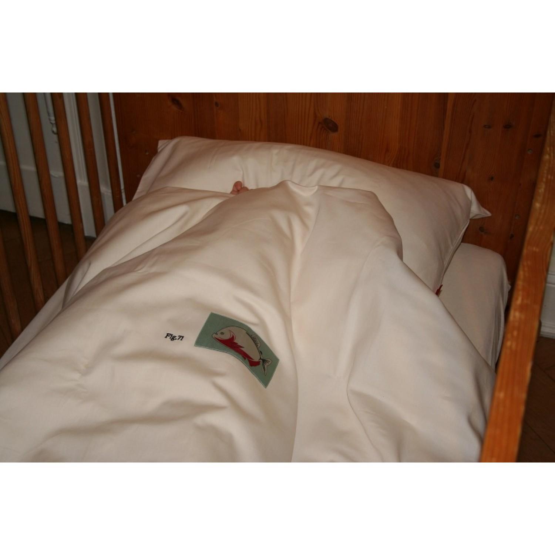 Kinder Bettwäsche aus Bio-Baumwolle mit Piranha | iaio