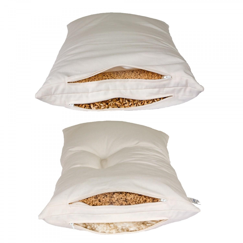 Speltex 2-Kammer Kombi-Schlafkissen mit Bio Getreideschalen