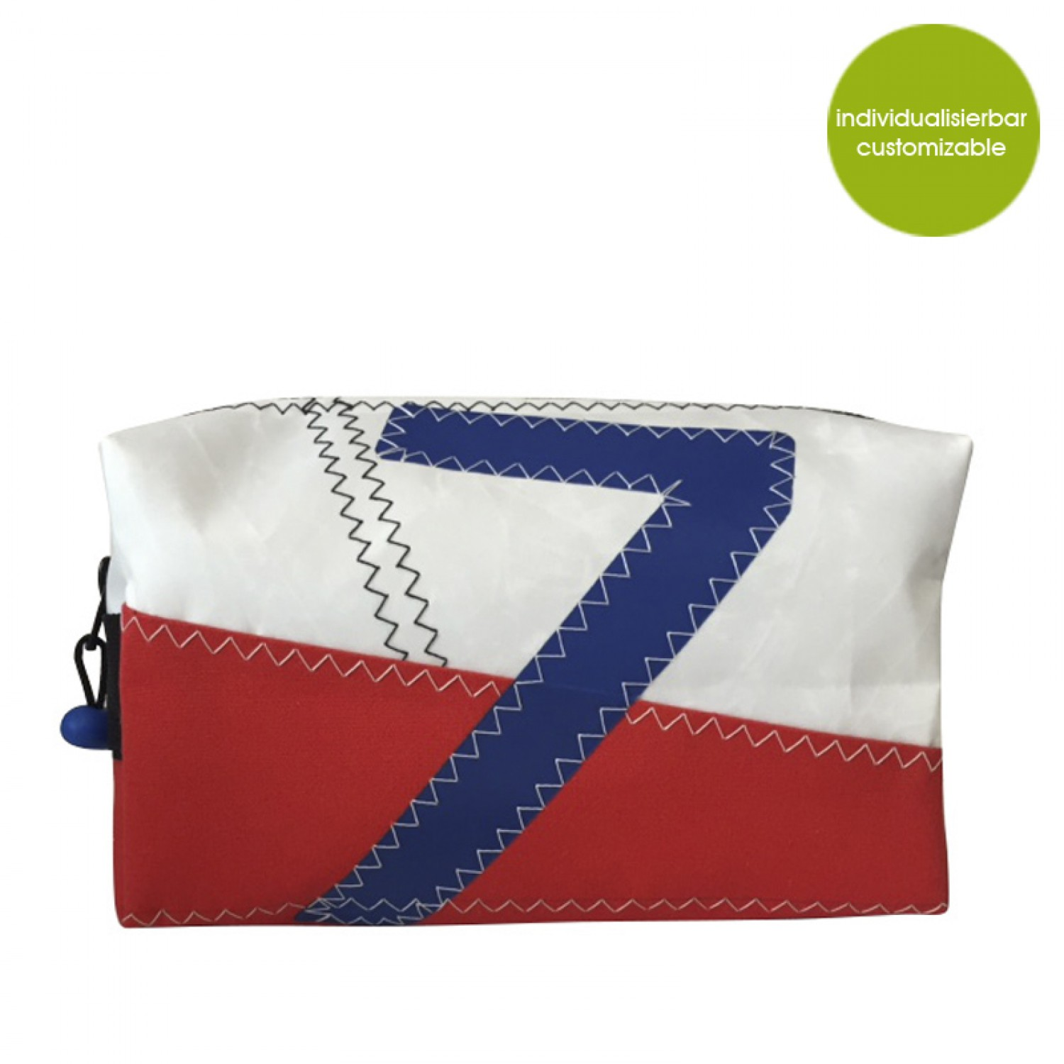 Individuelle Upcycling Canvas Kosmetiktasche Sail Boat 7