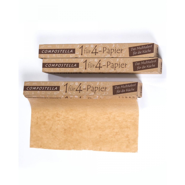 Plastikfreies Compostella 1 für 4 Papier