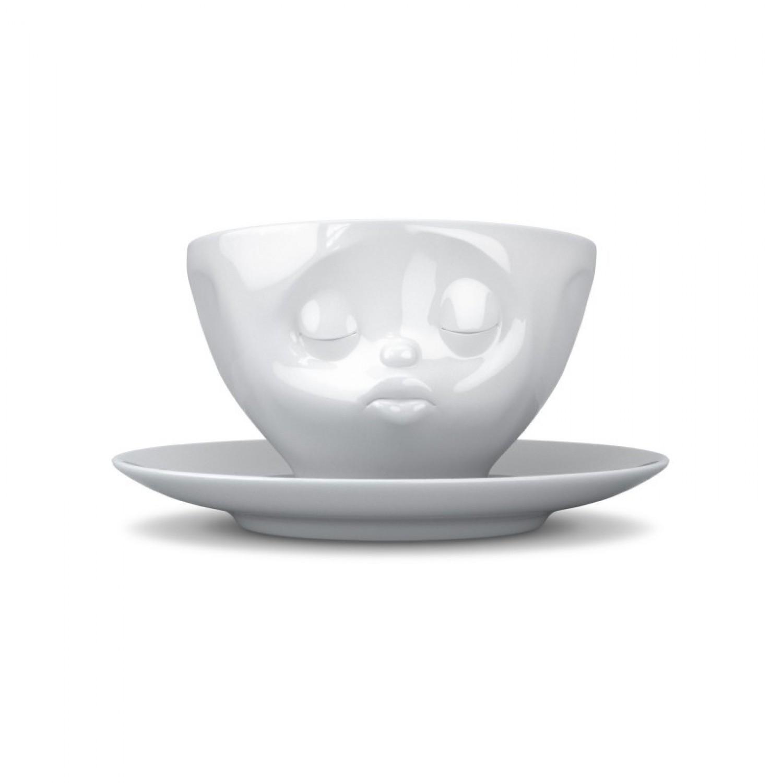 Küssende Tasse aus Porzellan