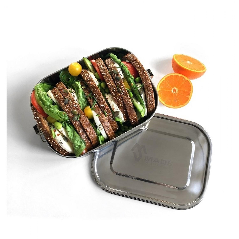 gro e edelstahl lunchbox auslaufsicher made sustained greenpicks. Black Bedroom Furniture Sets. Home Design Ideas