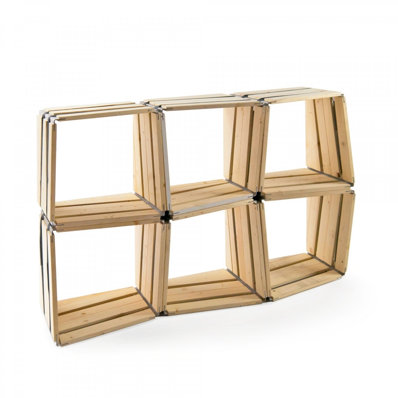 6er Set moveo. LXXX  Upcycling Regal aus Holz | reditum