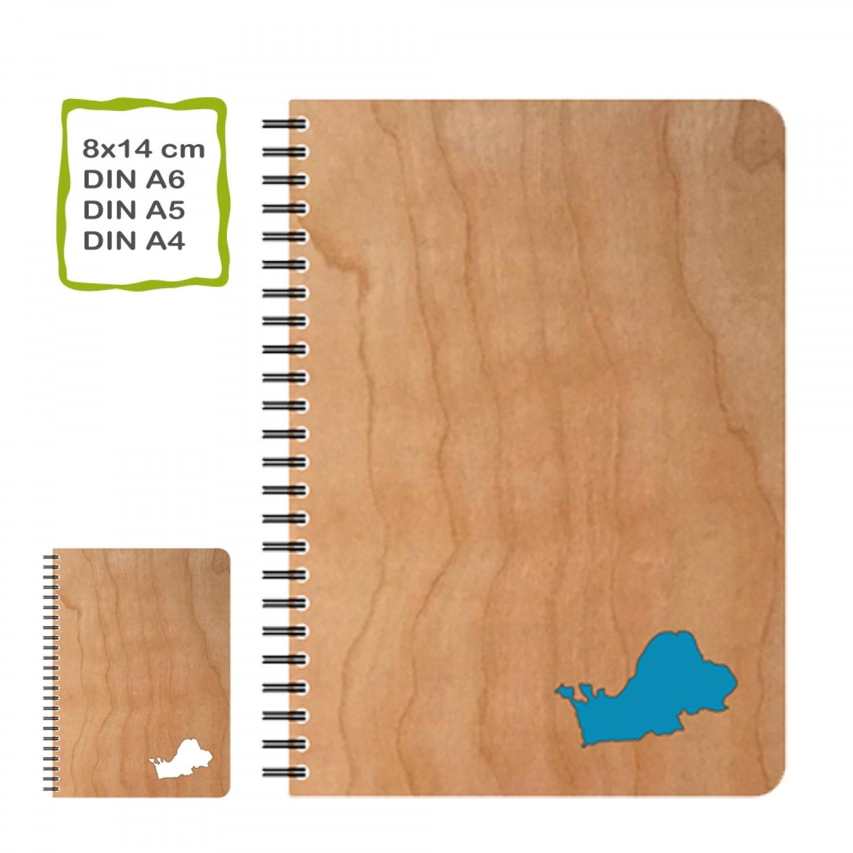 CHIEMSEE Kirschholz Notizbuch inkl. Öko Papier | Echtholz