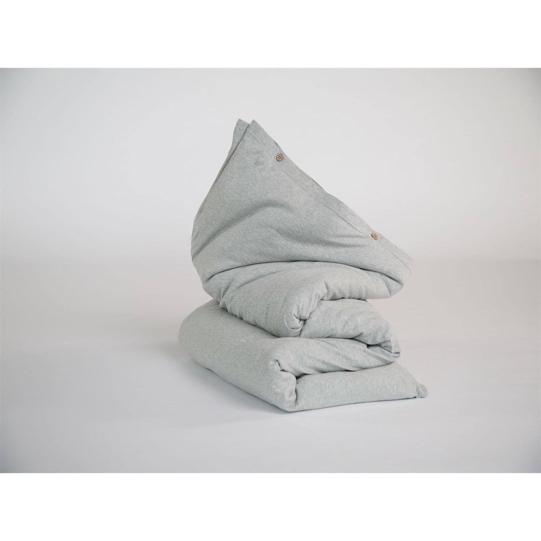 Kinder Bettwäsche Jersey White Grey