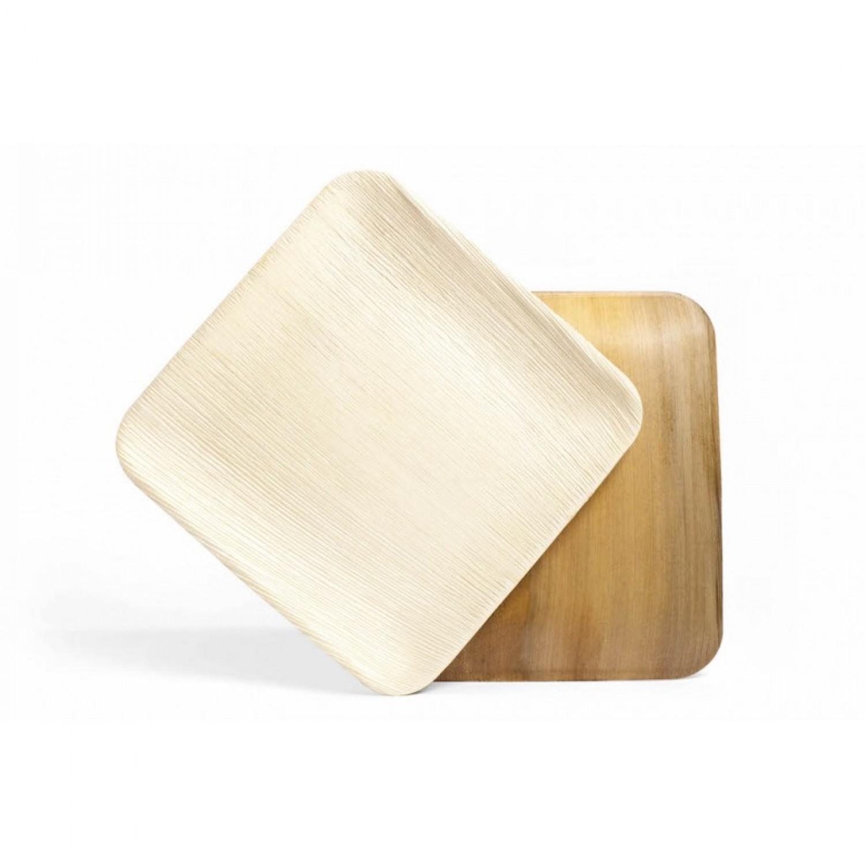 Palmblatt-Teller Square L - quadratisch 24 cm | Leef