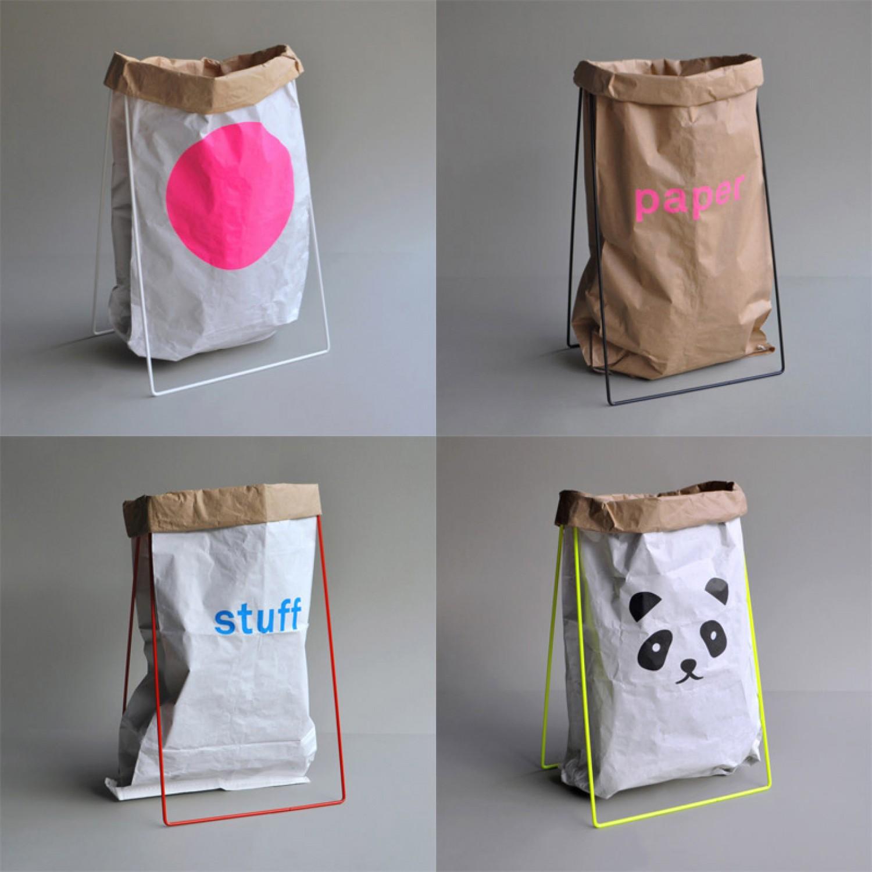 Papiersack Halter in verschiedenen Farben von kolor