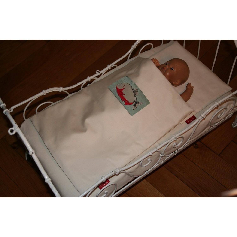 Puppenbettwäsche aus Bio-Baumwolle