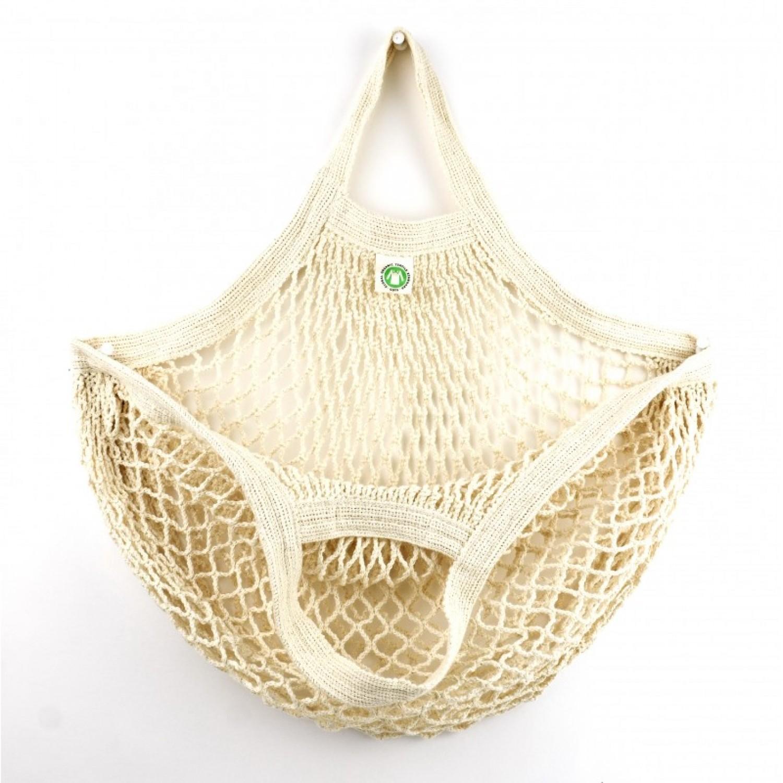 Einkaufsnetz m. kurzen Griffen aus Bio-Baumwolle | Re-Sack