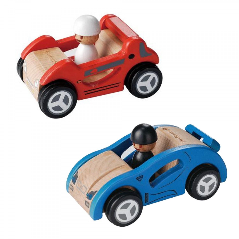 EverEarth Sportwagen - Rennwagen aus FSC® Holz Spielzeug