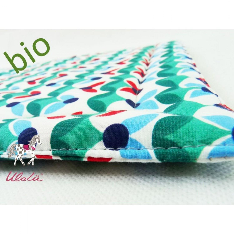 Baby Flachkissen Bio-Baumwolle Retro Blume