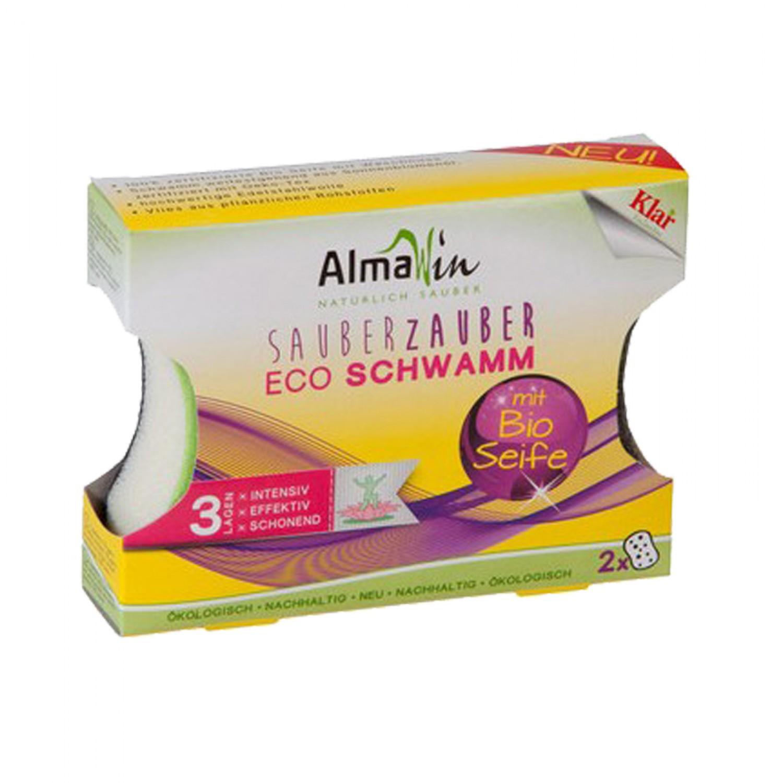 Sauber Zauber Eco Schwamm 2er Set | AlmaWin