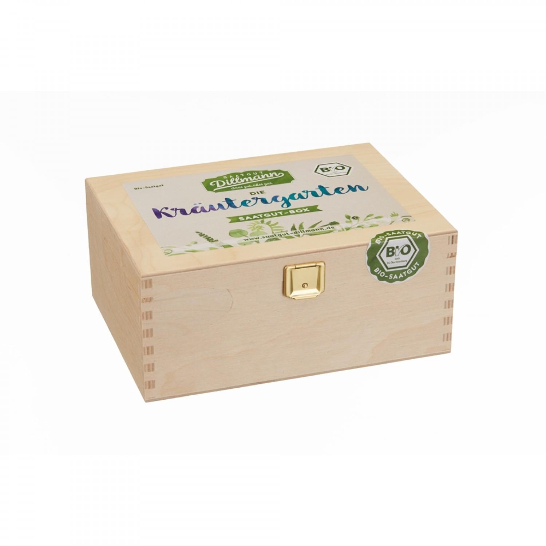 Kräutergarten Saatgut-Box S Bio 6 Sorten   Dillmann
