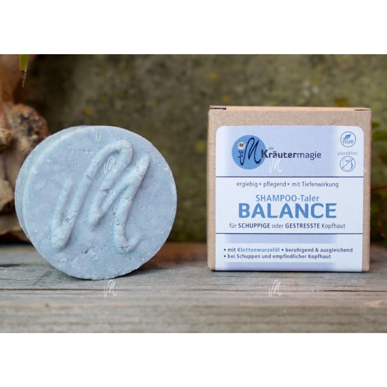 Shampoo-Taler Balance vegan Haarseife gegen Schuppen | Kräutermagie