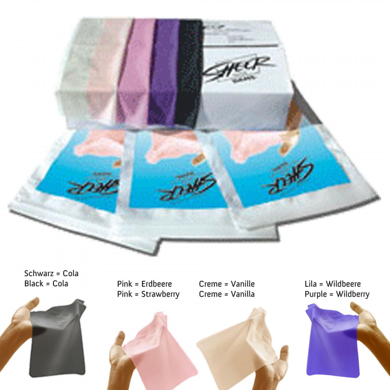 Sheer® GLYDE Dams: Wildbeere / Vanille / Erdbeere / Cola