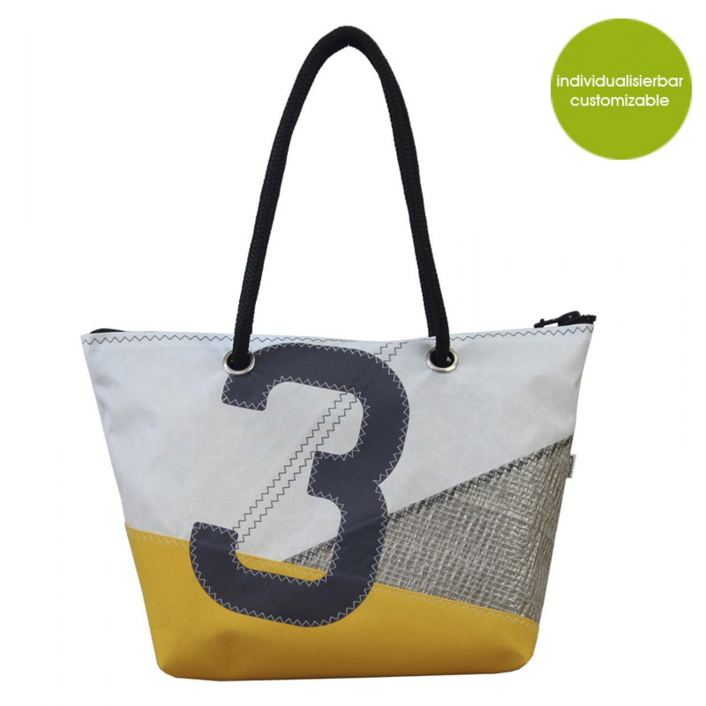 Robuste Citybag & Öko Shopper Sail Boat 3 | Marron Rouge
