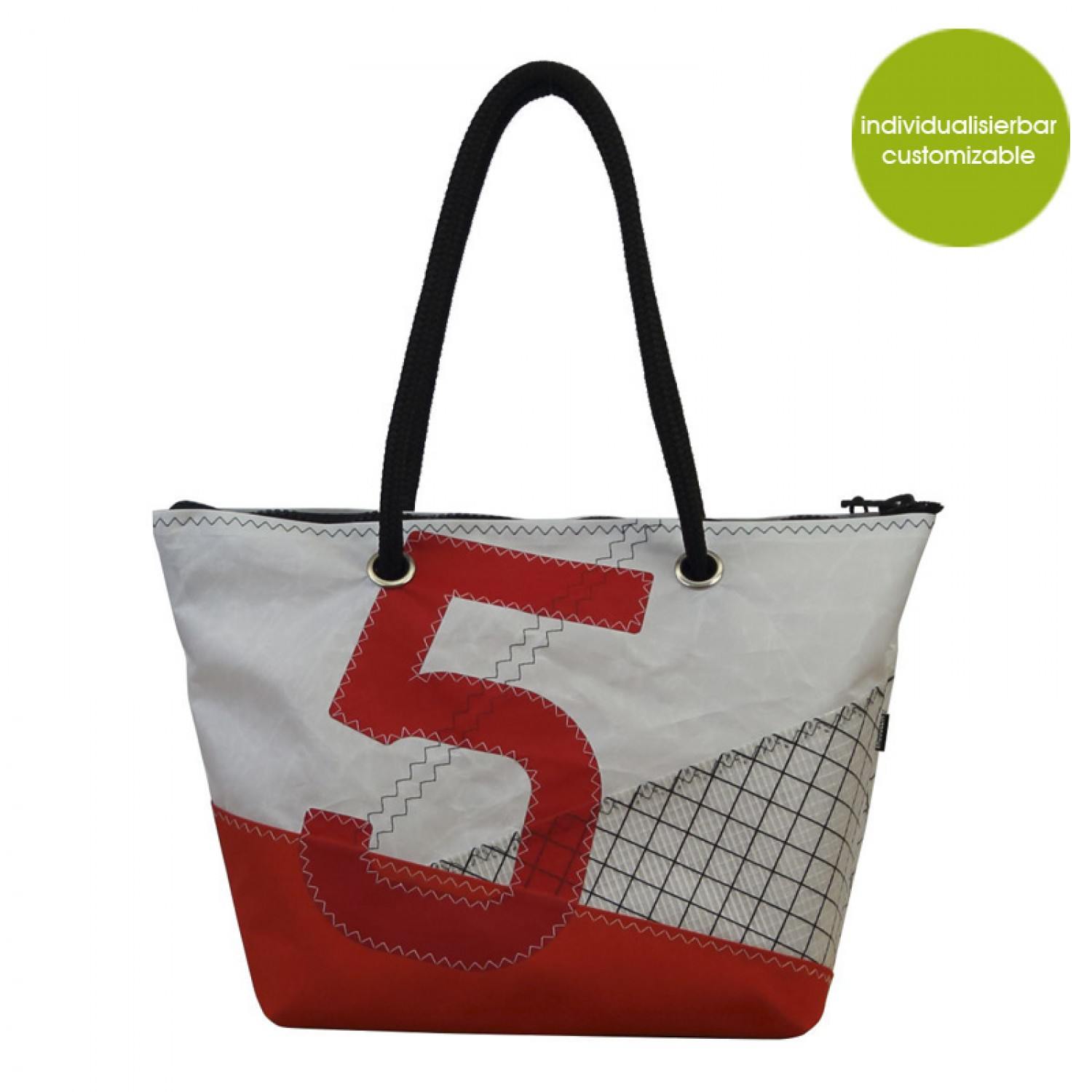 Upcycling Shopper & Citybag »Sail Boat 5« | Marron Rouge
